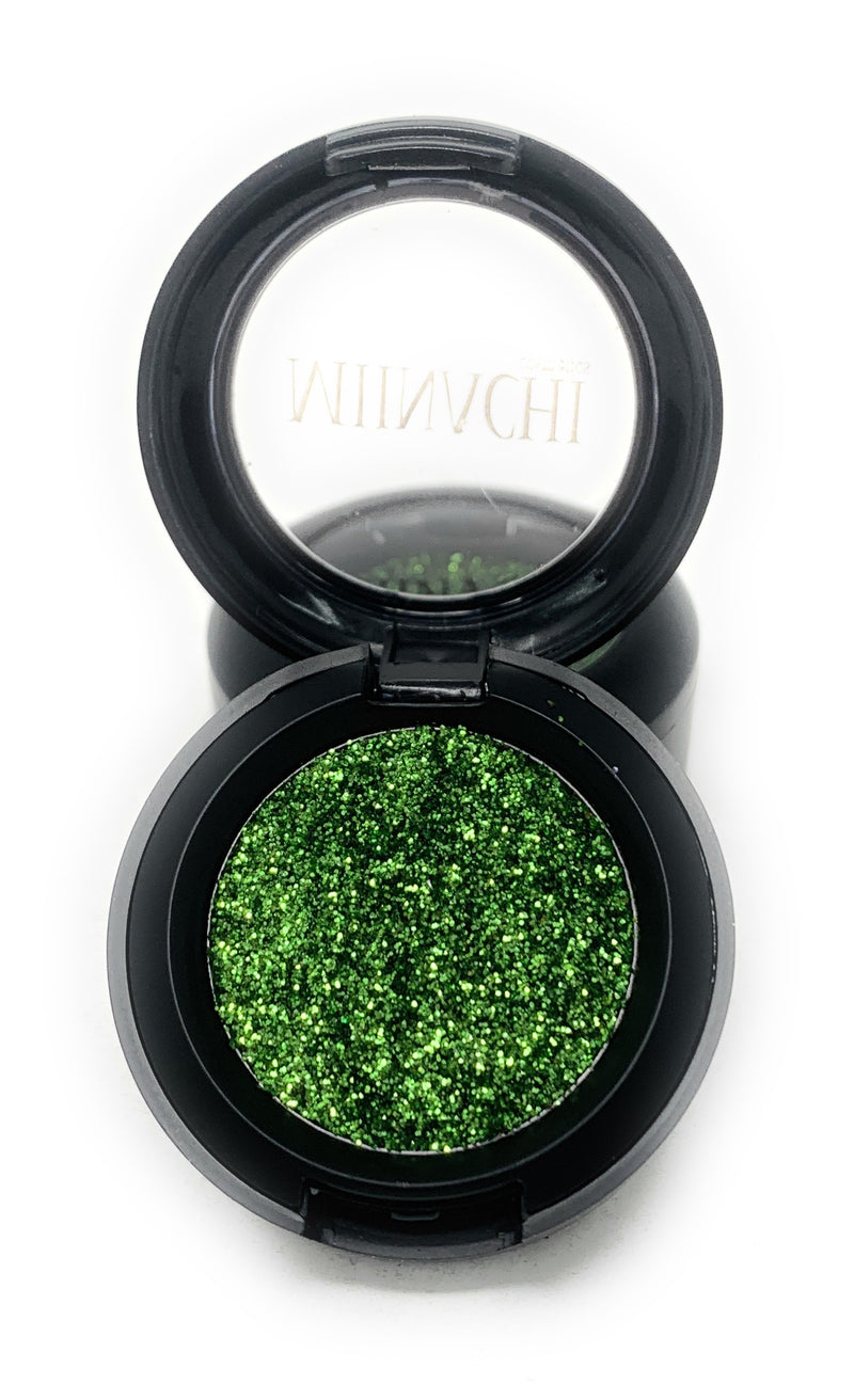 Single Pressed Glitter in the shade Lime, No Glue Needed, In Compact, Pigmented, No Fall Out, Glitter, Cosmetic Grade Glitter