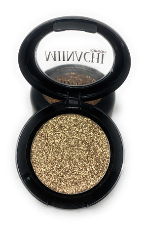 Single Pressed Glitter in the shade Champagne JUMBO Size, No Glue Needed, In Compact, Pigmented, No Fall Out, Glitter, Cosmetic Grade Glitter
