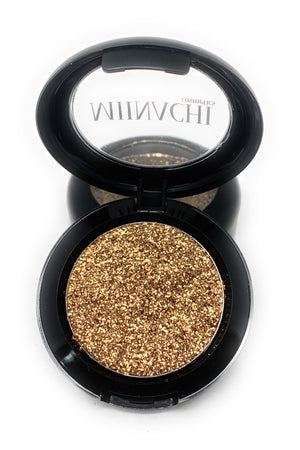 Single Pressed Glitter in the shade Gold JUMBO Size, No Glue Needed, In Compact, Pigmented, No Fall Out, Glitter, Cosmetic Grade Glitter