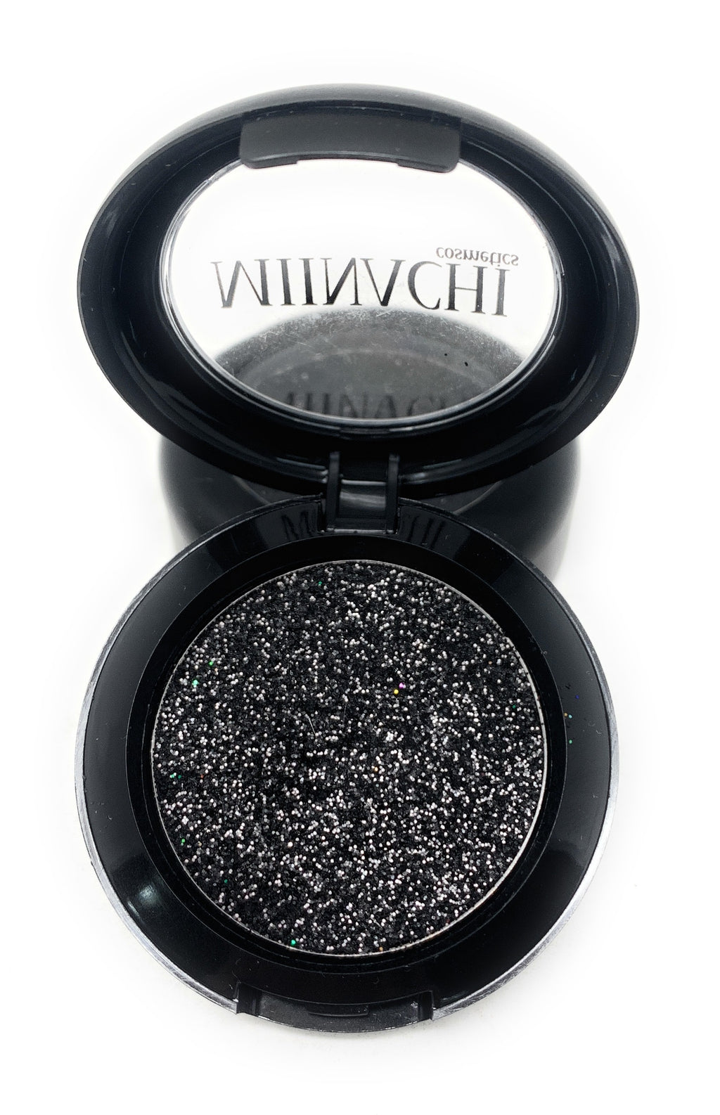 Single Pressed Glitter in the shade Dark Knight JUMBO Size, No Glue Needed, In Compact, Pigmented, No Fall Out, Glitter, Cosmetic Grade Glitter