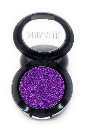 Single Pressed Glitter in the shade Purple JUMBO Size, No Glue Needed, In Compact, Pigmented, No Fall Out, Glitter, Cosmetic Grade Glitter