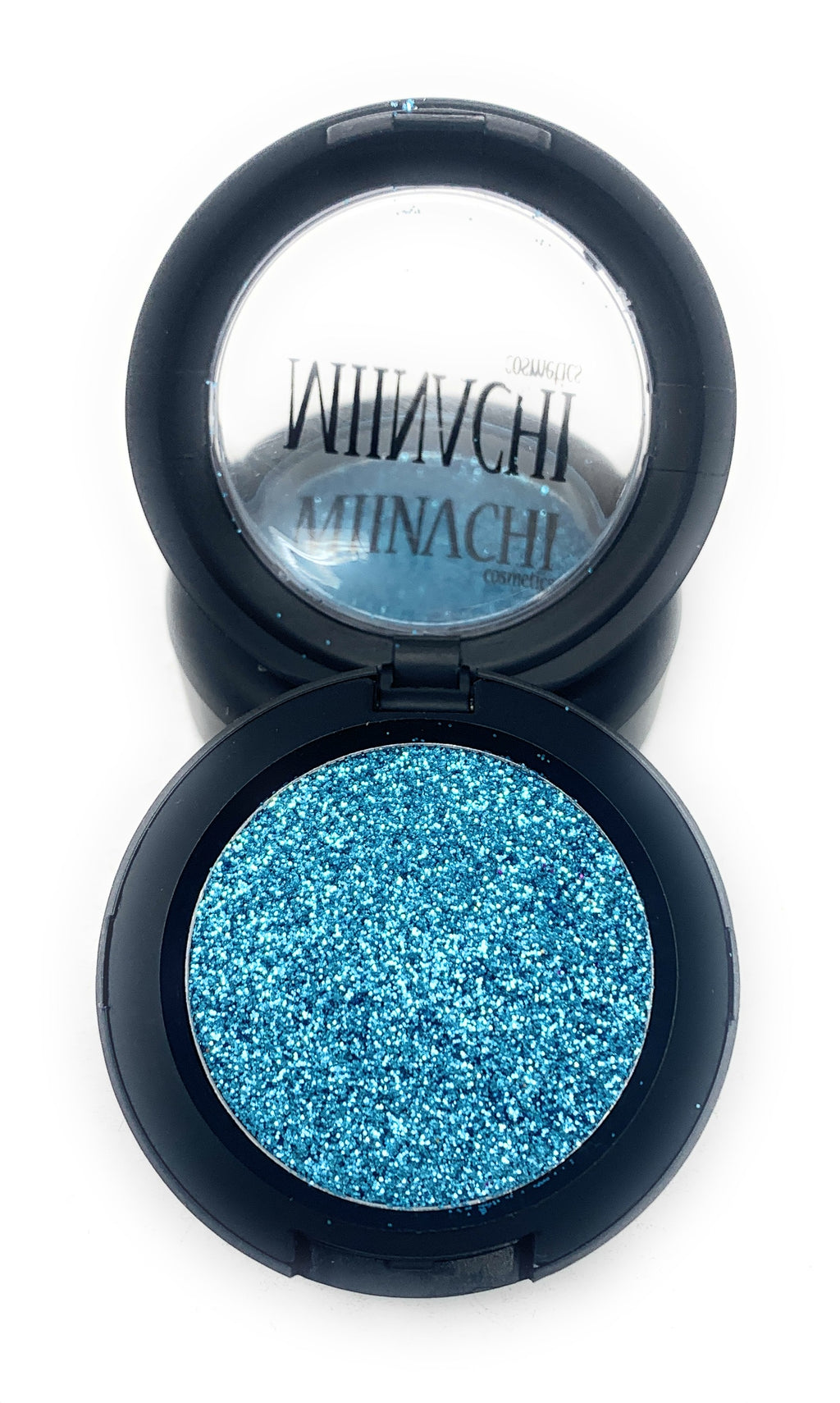 Single Pressed Glitter in the shade Aqua JUMBO Sized, No Glue Needed, In Compact, Pigmented, No Fall Out, Glitter, Cosmetic Grade Glitter