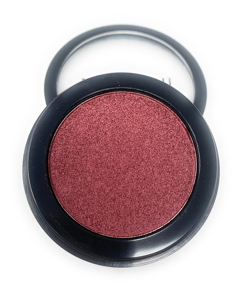 Single Pressed Eyeshadow In the Shade Dragon Compact Smooth Pigmented Eyeshadow Purple Red Foiled Colour