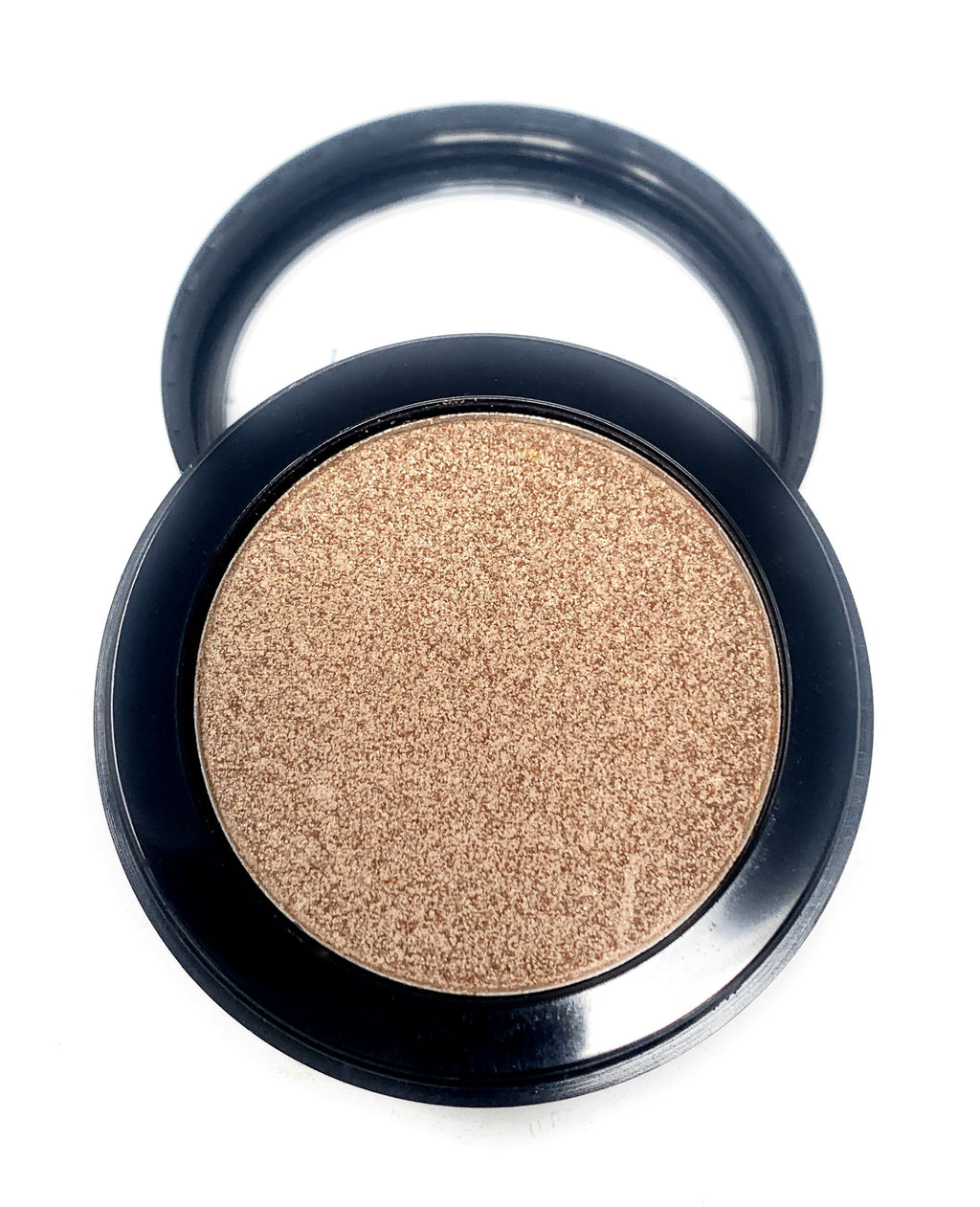 Single Pressed Eyeshadow In the Shade Delicate Compact Smooth Pigmented Eyeshadow Light Gold Foiled Colour