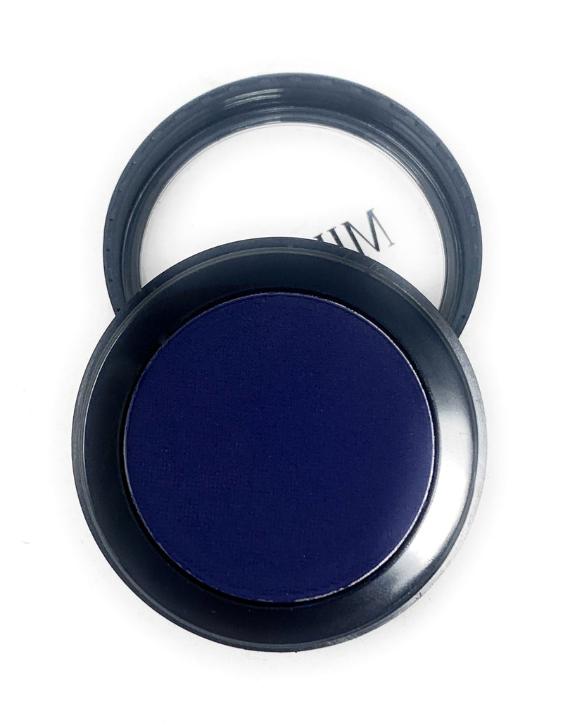 Single Pressed Blue Matte Eyeshadow In the Shade Stitch Compact Smooth Pigmented Eyeshadow Colour