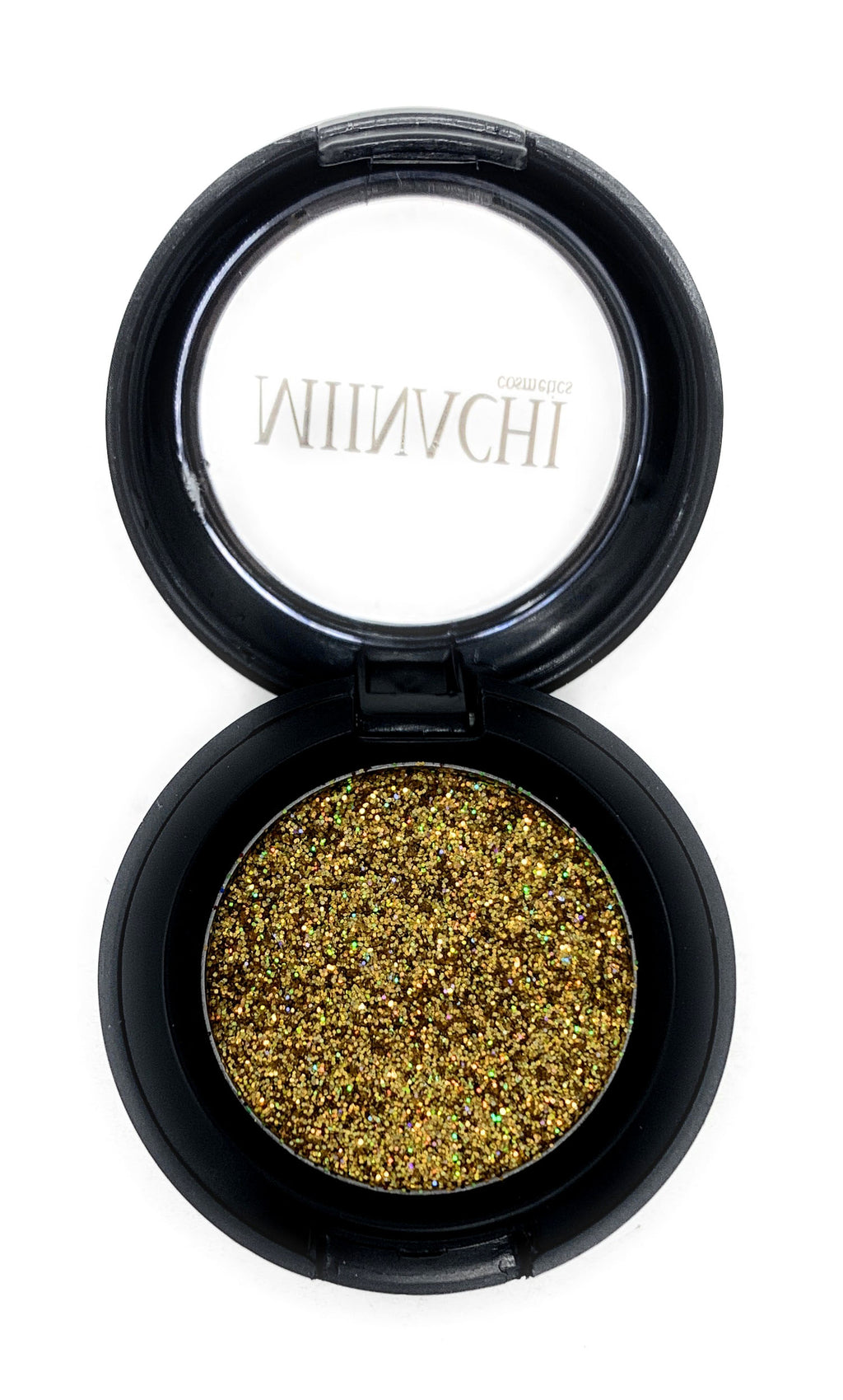 Single Pressed Glitter in the shade Paris, No Glue Needed, In Compact, Pigmented, No Fall Out, Glitter, Cosmetic Grade Glitter, Gold