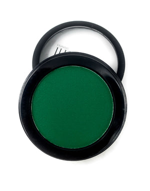 Single Pressed Eyeshadow In the Shade Fiji Compact Smooth Pigmented Eyeshadow Green Matte Colour