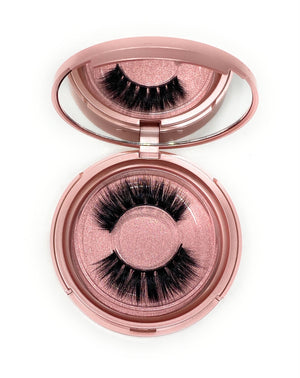 3D Lash in the style Crown, Fluffy, Reusable, Flexible, Lightweight Lashes with Mirror