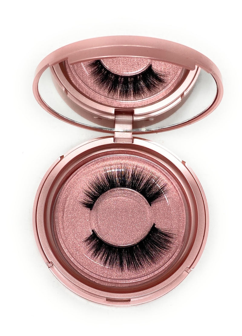 3D Lash  in the style Spellbound, Fluffy, Reusable, Flexible, Lightweight Lashes with Mirror