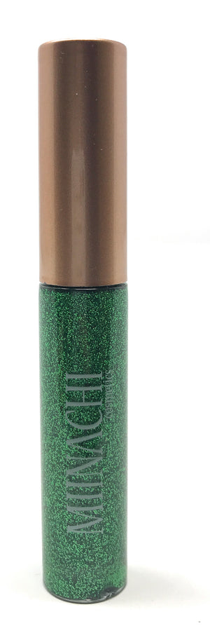 Green Liquid Eye Liner in the Shade Leprechaun Cosmetic Grade Glitter Smudge Proof Water Proof No Glue Needed