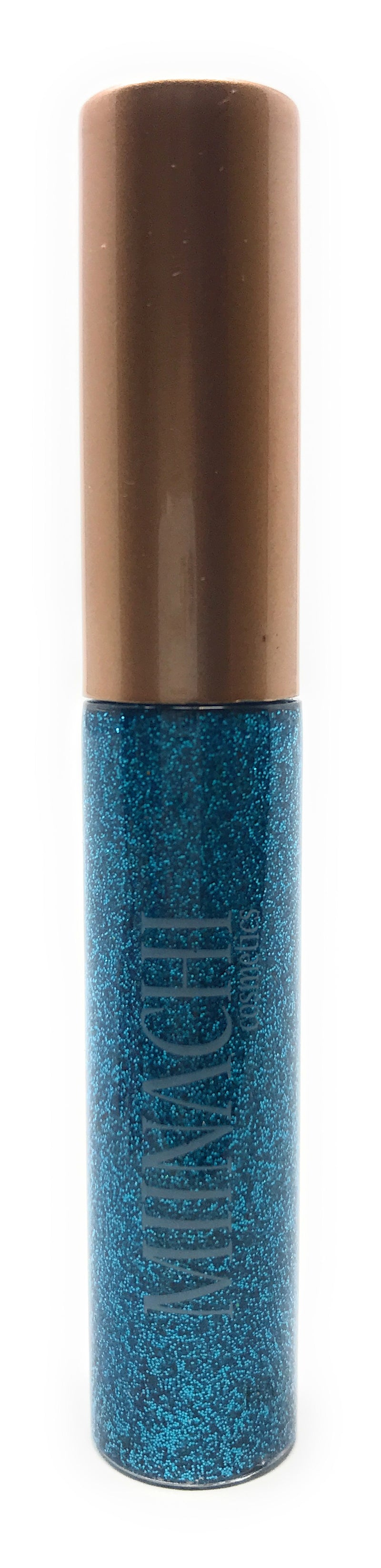 Blue Liquid Eye Liner in the Shade Aqua Cosmetic Grade Glitter Smudge Proof Water Proof No Glue Needed