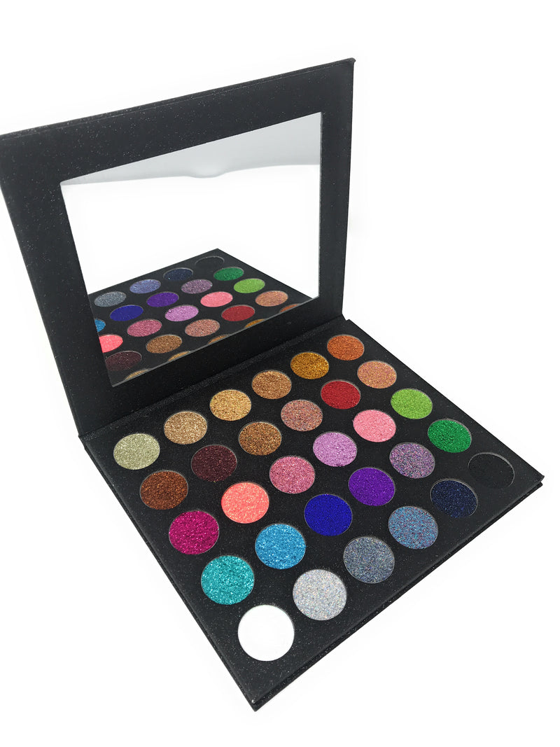 The Twinkle Palette by Miinachi Cosmetics Pigmented Pressed Glitter Palette No Glue Needed No Mess