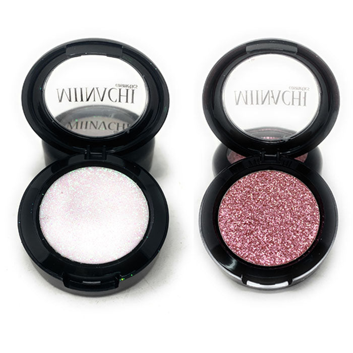 Single Pressed Glitter in the shade Pinky Promise and Alpha JUMBO Size, No Glue Needed, In Compact, Pigmented, No Fall Out, Glitter, Cosmetic Grade