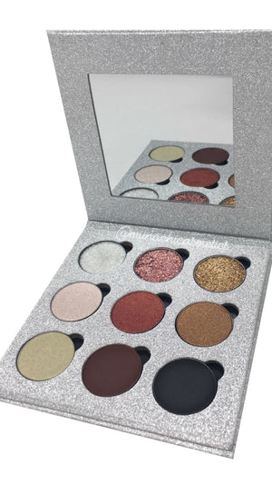 The Mesmerised Palette by Miinachi Cosmetics 9 Shades Glitter Eyeshadow Foiled Matte Pigmented Makeup