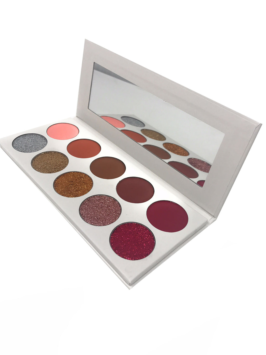The Sunset Palette by Miinachi Cosmetics Eyeshadow and Glitter Palette Pigmented 8 Shades with Mirror