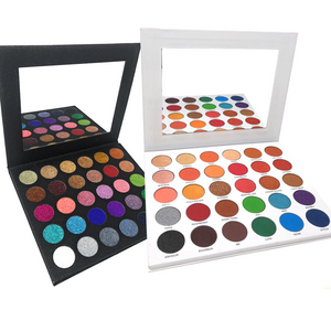 Matte and Shimmer Eye shadow Palette and Twinkle Pressed Glitter Palette Bundle No Glue Needed Pigmented Make up Shades Cruelty Free Makeup
