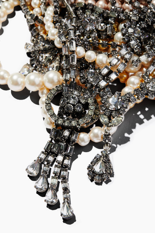 Pearl And Crystal Tangled Necklace - Studio C