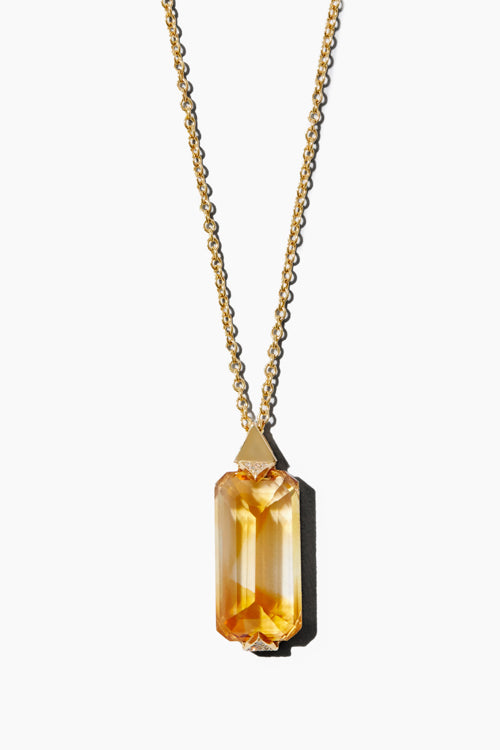 Elongated Citrine Necklace - Studio C