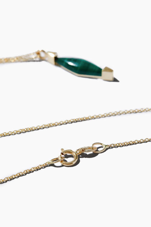 Gold Malachite Necklace - Studio C
