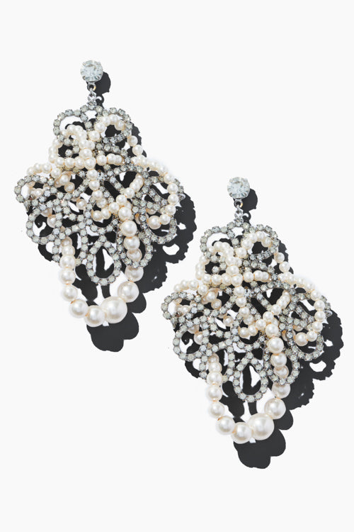 Crystal & Pearl Earrings - Studio C