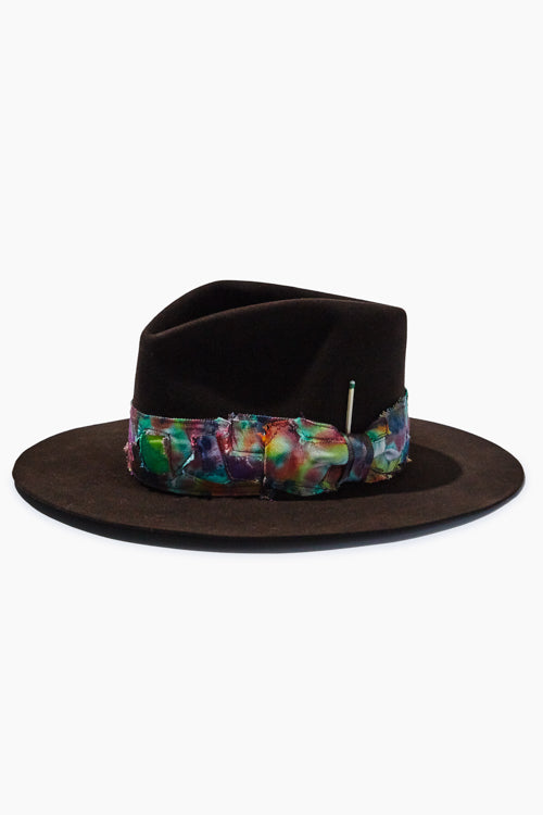 Chocolate Brown Felt Fedora - Studio C