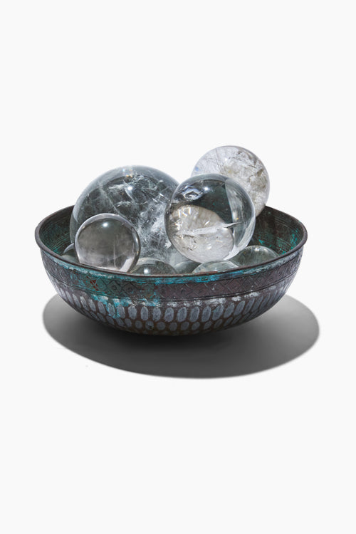 Small Bowl Of Crystal Spheres - Studio C