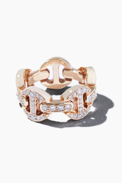 Dame Classic Tri-Link Antiquated Ring - Studio C