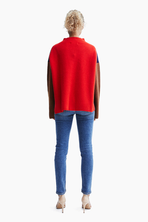 Rosie Color Block Wool Sweater - Studio C