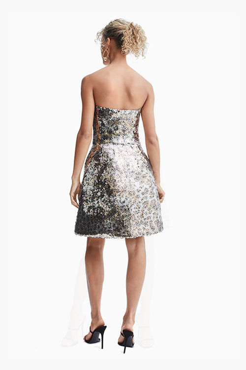 Metallic Cocktail Dress - Studio C