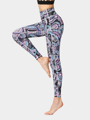 Women's Painted Printed Tight Yoga Pants