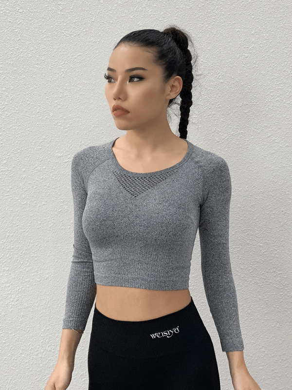 Feel Empowered Long Sleeve Crop Top