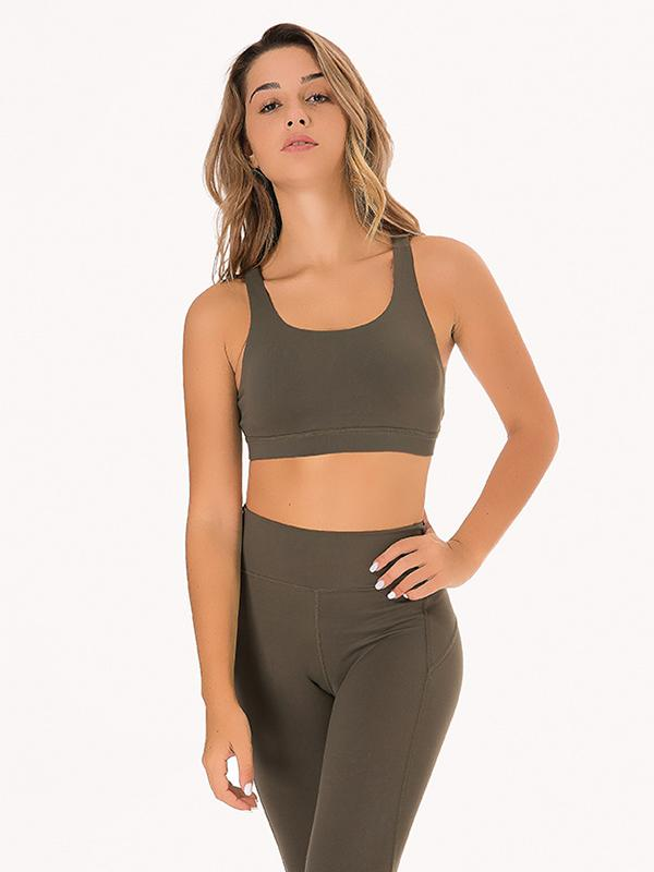 Energy Cross Back Medium Impact Sports Bra