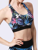 Painted Matching High-Rise Sportswear - Sports Bra