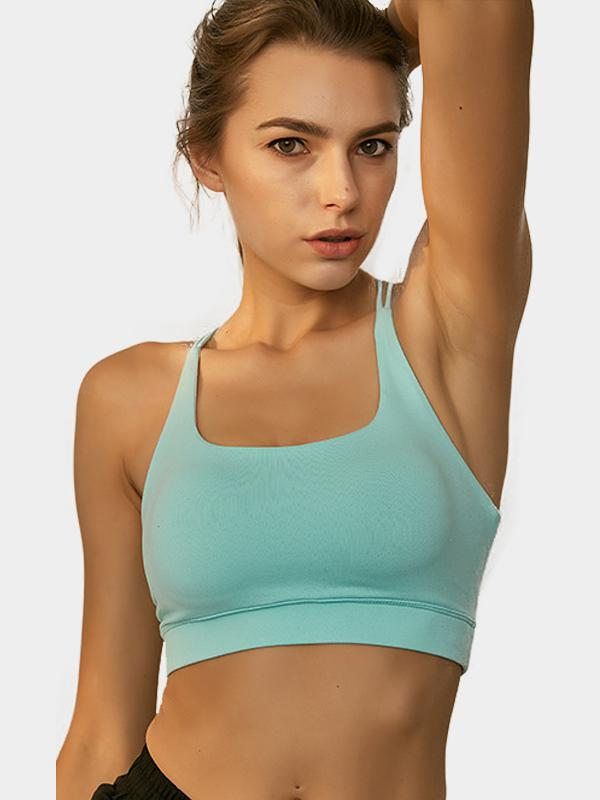 Fresh Cross-strap Medium Support Workout Sports Bra