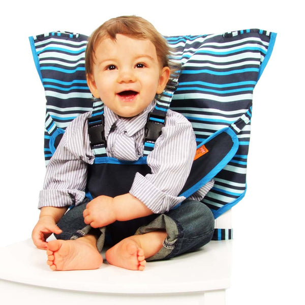 Hudson Stripe Travel Highchair