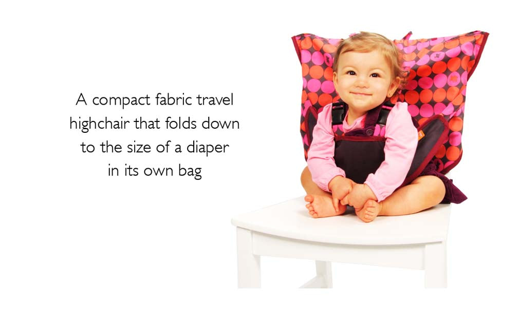 Pinky Buttons Travel Highchair