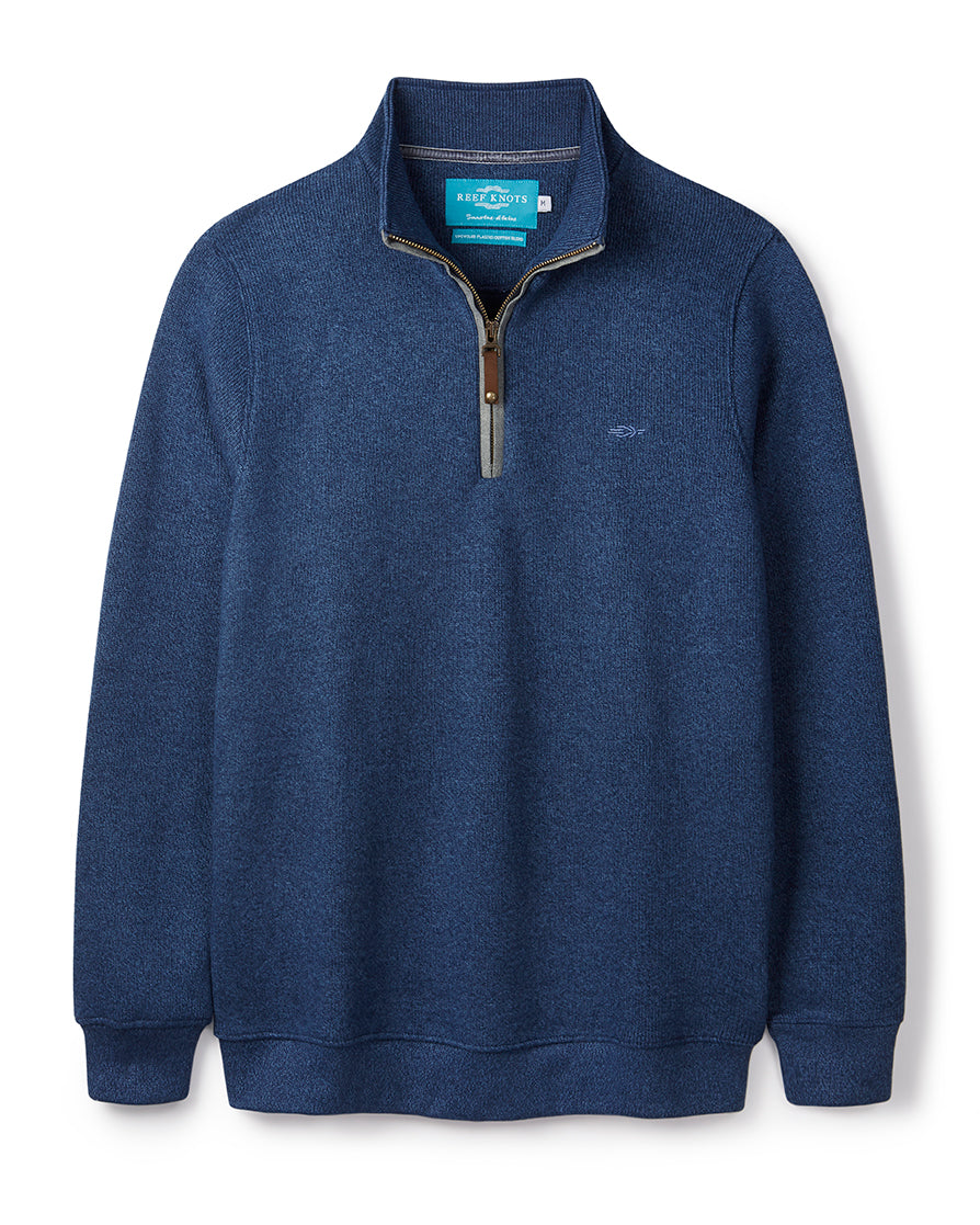 Ocean Blue Quarter Zip (no contrast)