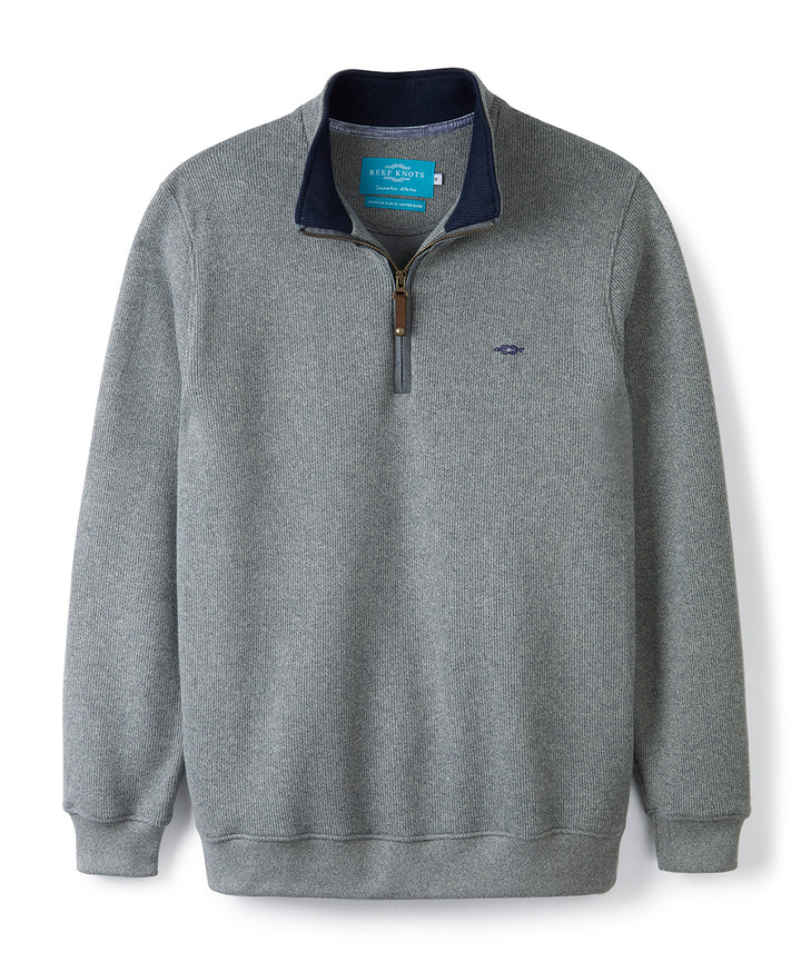 Graphite Quarter Zip (Navy Contrast)