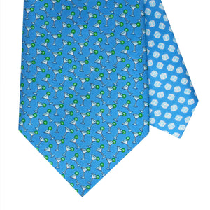 Men's Cocktail Blue Silk Tie