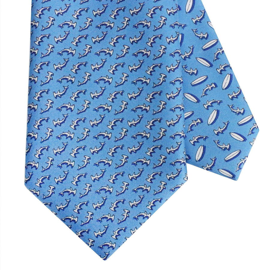 Men's Hammerhead Shark Blue Tie