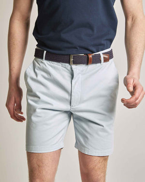 "Light Blue Organic Cotton Shorts (7"" leg)"