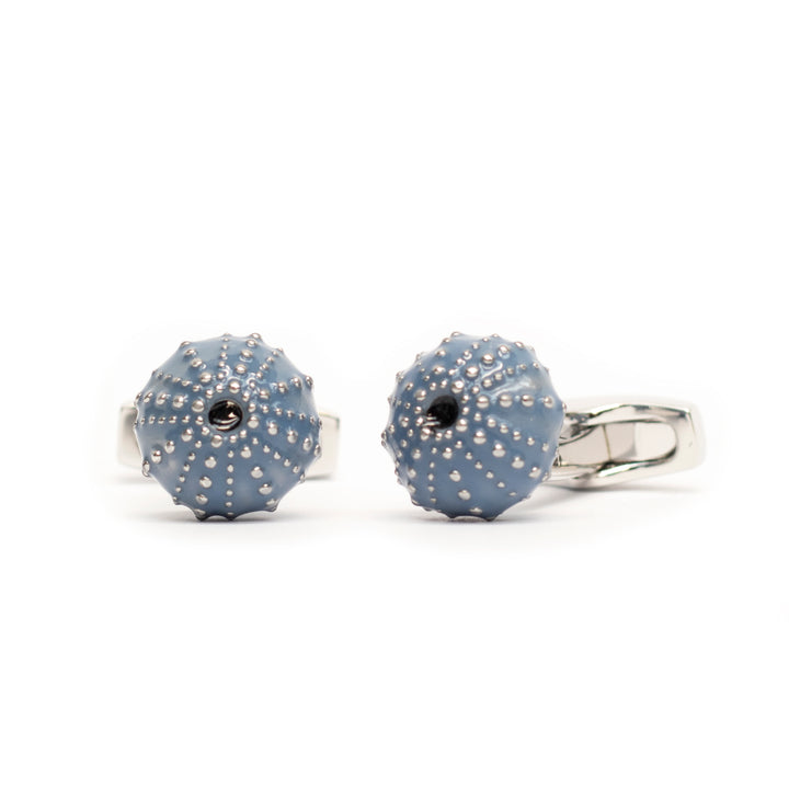 Blue Enamel Sea Urchin Cufflinks