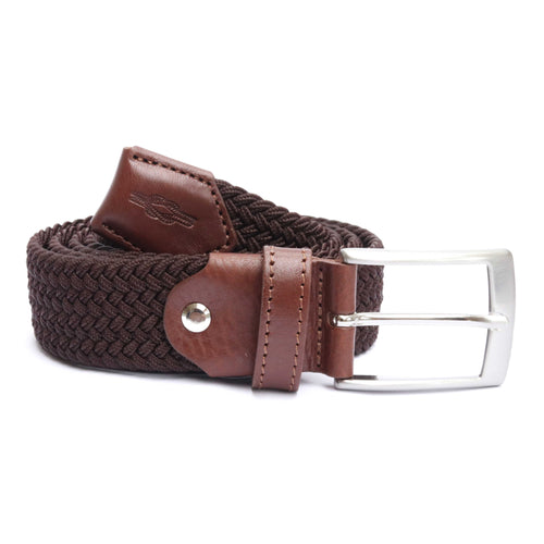 Brown Woven Elasticated Belt