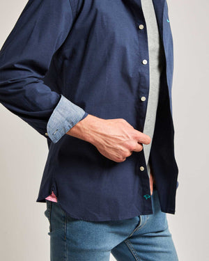 Dark Blue Vail Cotton Shirt