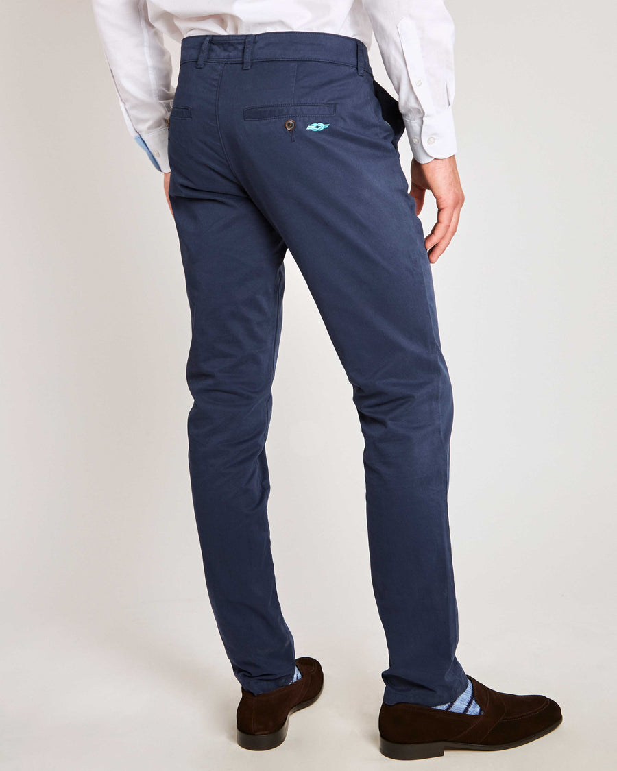 Navy Blue Organic Cotton Chino