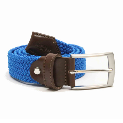 Cobalt Blue Woven Elasticated Belt