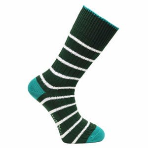 Conifer Green Stripe Socks - Chunky