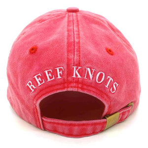 Gecko Baseball Cap - Coral Red