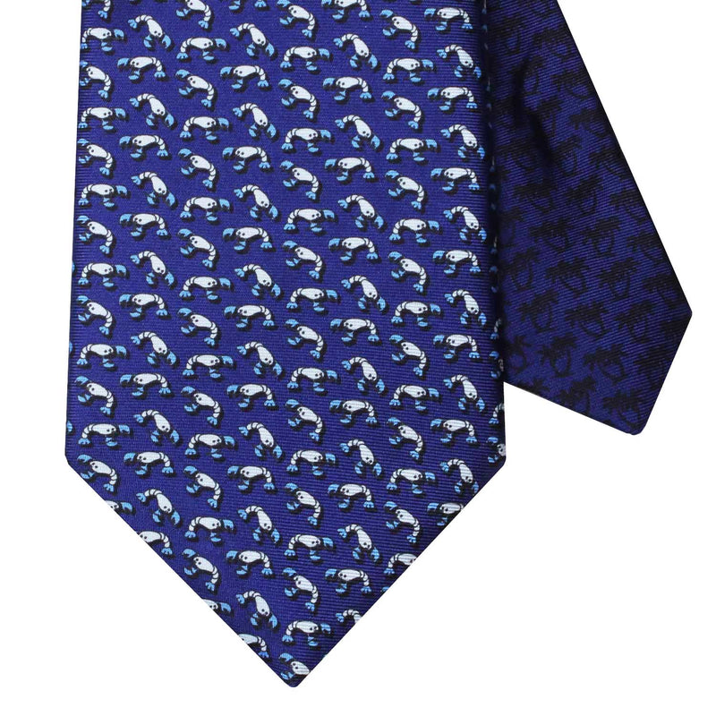 Men's Lobster Dark Blue Silk Tie