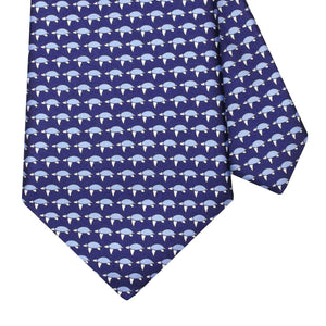 Men's Sea Turtles Dark Blue Silk Tie